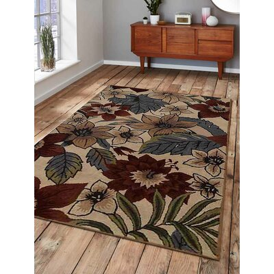 Hand-Tufted Beige/Brown Area Rug Rug Size: 10' x 13'