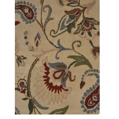 Hand-Tufted Beige Area Rug Rug Size: 10 x 13