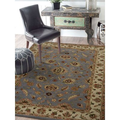 Hand-Tufted Gray/Beige Area Rug Rug Size: Rectangle 8 x 11