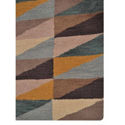Glantz Hand-Woven Black/Brown/Beige Area Rug Rug Size: Rectangle 5 x 8