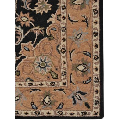 Hand-Tufted Black/Beige Area Rug Rug Size: Rectangle 10 x 13