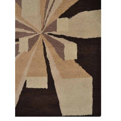 Hand-Tufted Brown Area Rug Rug Size: 5 x 8