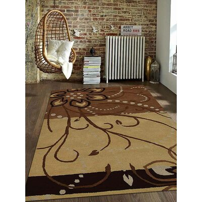 Jasmine Contemporary Hand Tufted Wool Light Brown Area Rug Rug Size: 5' x 8'