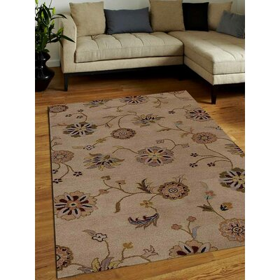 Hand-Tufted Beige Area Rug Rug Size: 9x12