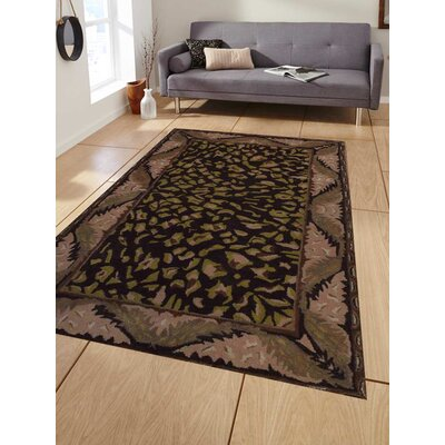 Hand-Tufted Brown/Beige Area Rug Rug Size: 9'x12'
