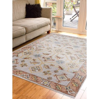Hand-Tufted Beige/Brown Area Rug Rug Size: Rectangle 9x12