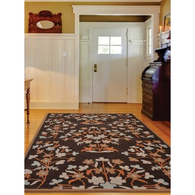 Hand-Tufted Brown Area Rug Rug Size: Rectangle 8x11
