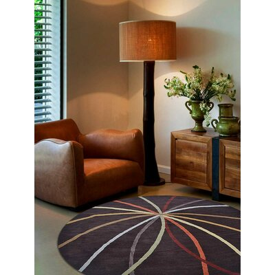 Hand-Tufted Brown Area Rug Rug Size: Rectangle 9 x 12