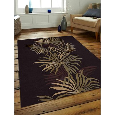 Hand-Tufted Brown Area Rug Rug Size: Rectangle 8 x 11