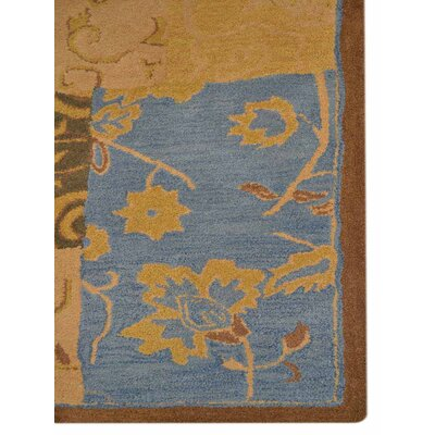 Hand-Tufted Gold Area Rug Rug Size: 4 x 6