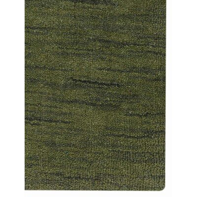 Hand-Knotted Green Area Rug Rug Size: 3 x 5