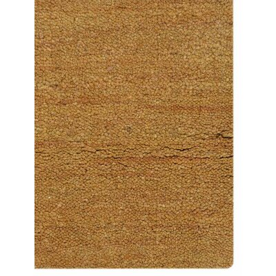 Hand-Knotted Gold Area Rug Rug Size: 5' x 8'