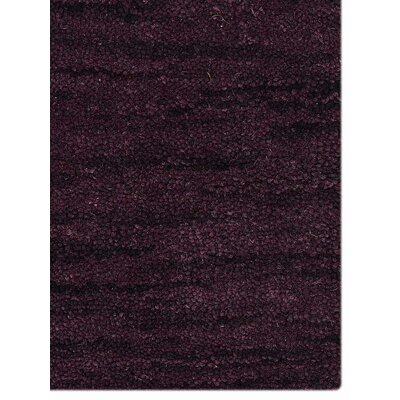 Delano Solid Hand-Woven Wool Purple Area Rug Rug Size: Runner 26 x 8