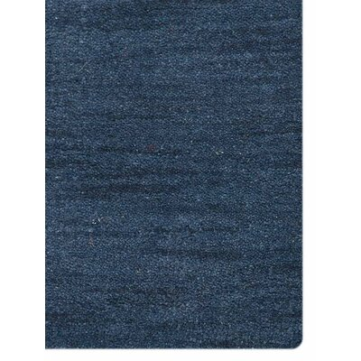 Hand-Knotted Denim Blue Area Rug Rug Size: 5 x 8