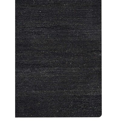 Hand-Knotted Charcoal Area Rug Rug Size: 6 x 9