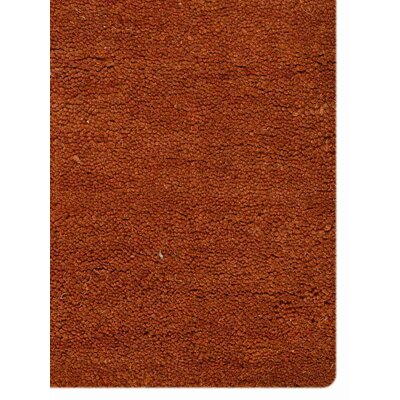 Hand-Woven Orange Area Rug Rug Size: 5 x 8
