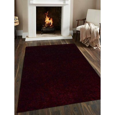 Sanford Solid Hand-Woven Violet Area Rug Rug Size: Rectangle�5 x 8