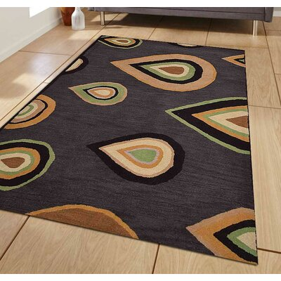 Hand-Tufted Charcoal Area Rug Rug Size: 8 x 11
