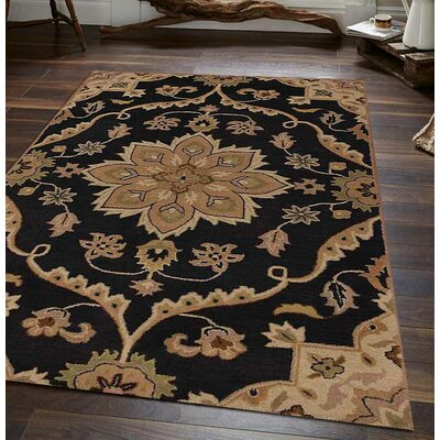 Hand-Tufted Charcoal Area Rug Rug Size: 5 x 8