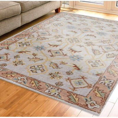 Hand-Tufted Beige/Brown Area Rug Rug Size: Runner 26 x 8