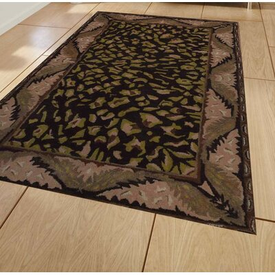 Hand-Tufted Brown/Beige Area Rug Rug Size: 8 x 11