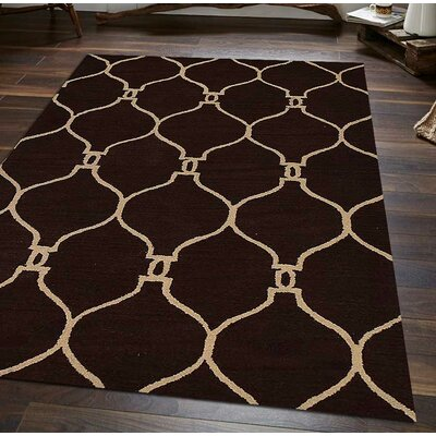 Hand-Tufted Brown/Beige Area Rug Rug Size: Rectangle 3' x 5'