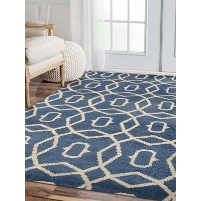 Knecht Hand-Woven Blue/Beige Area Rug Rug Size: Rectangle�9 x 12