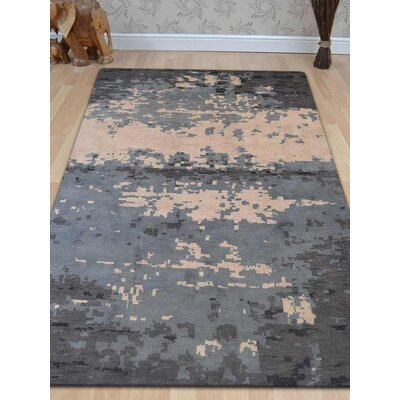 Tullos Hand-Woven Beige/Gray Area Rug Rug Size: Rectangle 5 x 8