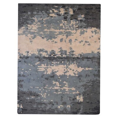 Rugsotic Hand-Knotted Beige/Gray Area Rug Rug Size: 8 x 5