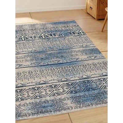 Chun Beige/Blue Area Rug Rug Size: 44 x 64