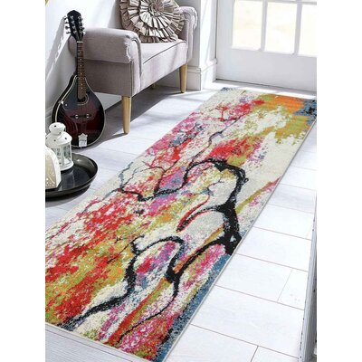 Chumbley Green/Red Area Rug Rug Size: Runner�32 x 10