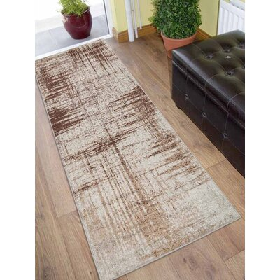 California City Beige Area Rug Rug Size: Runner 26 x 10