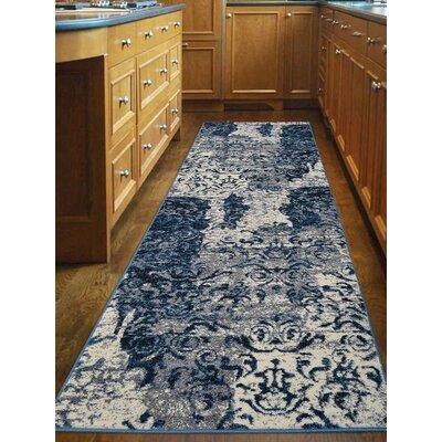 Cindi Blue Area Rug Rug Size: Runner 26 x 10