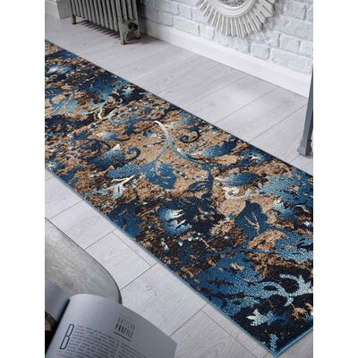 Aresford Blue Area Rug Rug Size: Runner 26 x 10