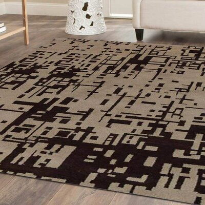 Matson Hand-Knotted Beige/Brown Area Rug Rug Size: Rectangle 5 x 8