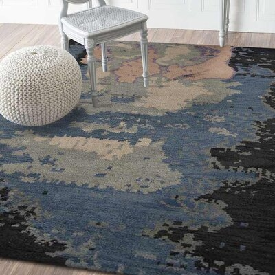 Tamera Hand-Knotted Blue Area Rug Rug Size: Rectangle 5 x 8