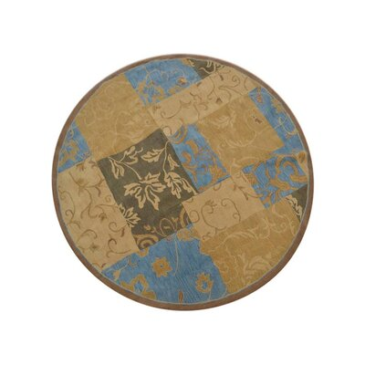 Lockerbie Floral Hand-Tufted Wool Blue/Brown Area Rug Rug Size: Round 8