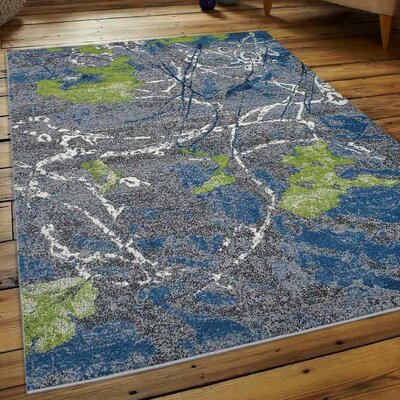 Chumley Gray/Blue Area Rug Rug Size: Runner 26 x 10