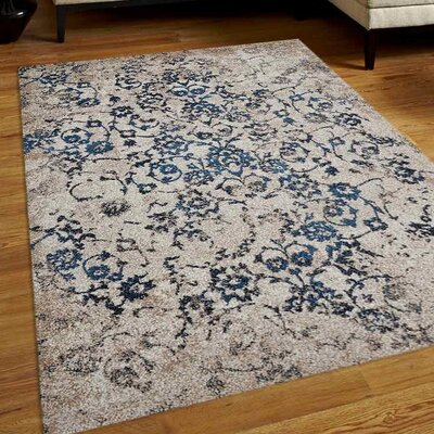 Arakaki Beige/Blue Area Rug Rug Size: 8 x 10