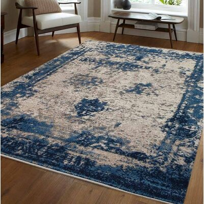 Annice Beige/Blue Area Rug Rug Size: 9 x 12