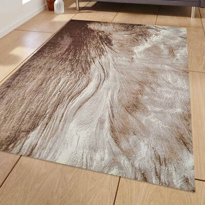 Bowhill Beige Area Rug Rug Size: 5 x 8