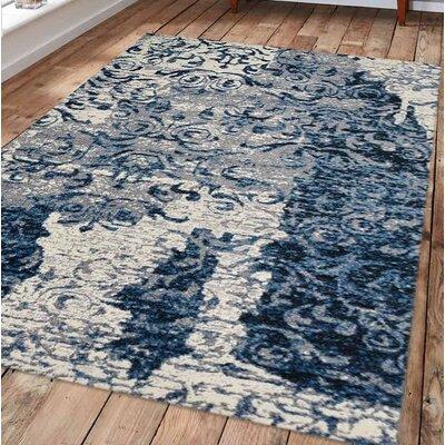 Cindi Blue Area Rug Rug Size: 9 x 12