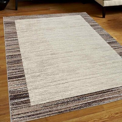 Clair Ivory/Beige Area Rug Rug Size: 8 x 10