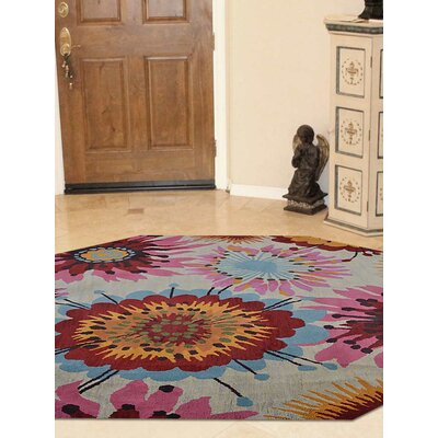 Duechle Hand-Woven Beige Area Rug Rug Size: Octagon 8