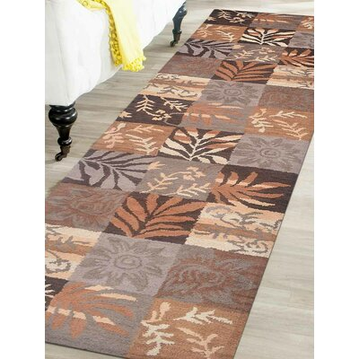 Hand-Tufted Brown Area Rug Rug Size: Runner 26x10