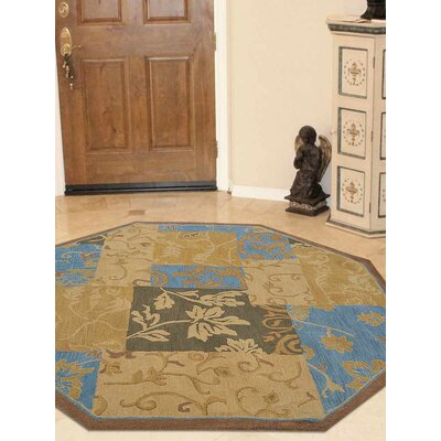 Ortiz-Vazquez Hand-Woven Gold Area Rug Rug Size: Octagon 8