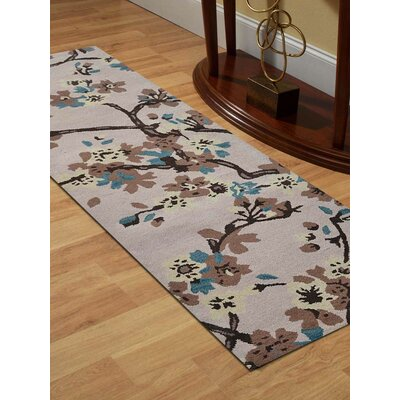 Hand-Tufted Beige Area Rug Rug Size: 8 x 11