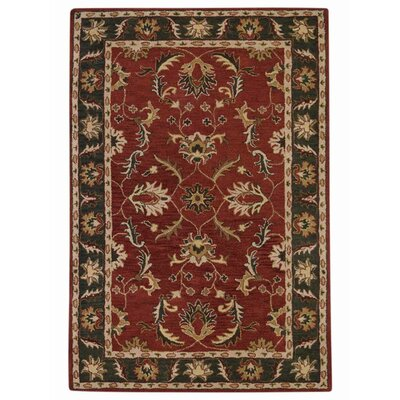 Hand-Tufted Red/Green Area Rug Rug Size: 9x12