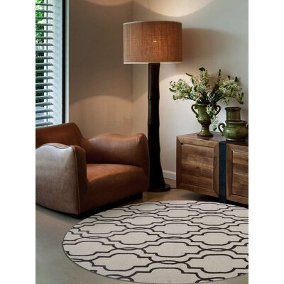 Hand-Tufted Beige/Brown Area Rug Rug Size: 9 x 12
