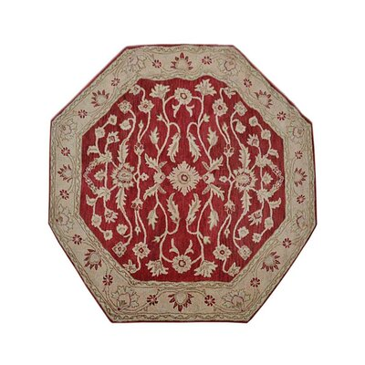 Morley Hand-Tufted Wool Red/Gold Area Rug Rug Size: Octagon 8 x 8